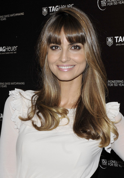 Ariadne Artiles Long Straight Cut with Bangs [anniversary party,rag heuer,hair,hairstyle,eyebrow,blond,brown hair,beauty,lip,chin,hair coloring,long hair,ariadne artiles attends,model,ariadne artiles,spanish,madrid,spain,tag heuer,anniversary party]