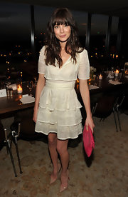Michelle Monaghan looked classic in pointy nude patent pumps.