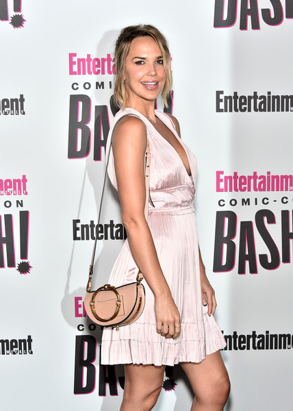 Arielle Kebbel Leather Shoulder Bag [entertainment weekly hosts its annual comic-con party at float at the hard rock hotel,san diego in celebration of comic-con 2018 - arrivals,clothing,dress,cocktail dress,premiere,magazine,fashion model,event,style,arielle kebbel,float,san diego,california,hard rock hotel,entertainment weekly,hbo,comic-con bash]