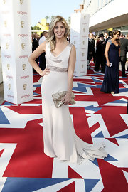 Francesca Hull looked breathtaking at the 2012 BAFTA Awards in her glamorous white evening gown.