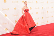 Actress January Jones attends the 66th Annual Primetime Emmy Awards held at Nokia Theatre L.A. Live on August 25, 2014 in Los Angeles, California.