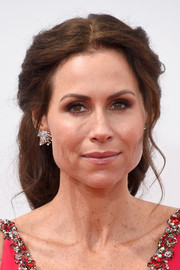 Minnie Driver pulled her tresses back in a classic half-up style for the Emmys.