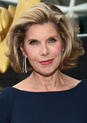 Christine Baranski was gorgeously coiffed with a short, windblown 'do at the Emmys.