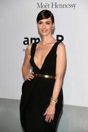 Paz Vega paired a gorgeous Bulgari gold and diamond bracelet with a sexy black gown for the Cinema Against AIDS Gala.
