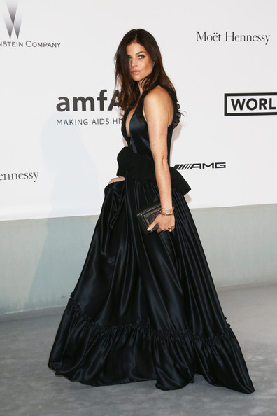 More Pics of Julia Restoin-Roitfeld Bangle Bracelet (2 of 4) - Julia Restoin-Roitfeld Lookbook - StyleBistro [bold films,fashion model,clothing,dress,shoulder,fashion,gown,waist,model,formal wear,fashion show,arrivals,julia restoin roitfeld,worldview,france,cap dantibes,hotel du cap-eden-roc,amfar,bvlgari,cinema against aids gala]