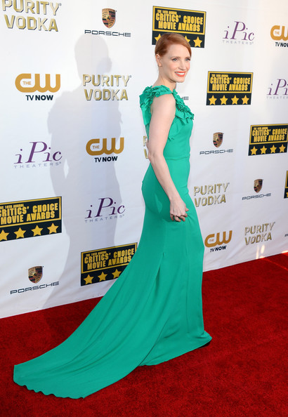 More Pics of Jessica Chastain Evening Dress (1 of 27) - Jessica Chastain Lookbook - StyleBistro