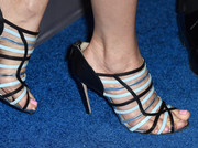 Leslie Mann chose a pair of fun strappy sandals by Burak Uyan.