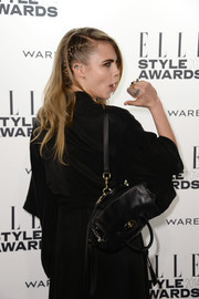 Cara Delevingne proved a backpack could be red carpet-worthy when she she carried this elegant black number she designed for Mulberry to the Elle Style Awards.
