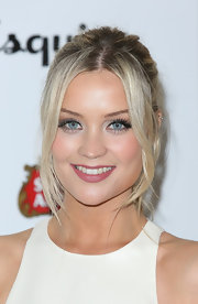 Laura Whitmore chose a lovely pink lipstick to complement her rosy cheeks.
