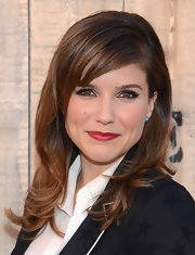 Sophia Bush wore her wavy locks in a deep side part with side-swept bangs at the Feed USA + Target launch.