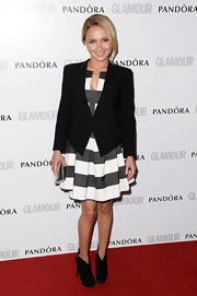 Hayden's structured blazer made her ensemble all business on the red carpet.