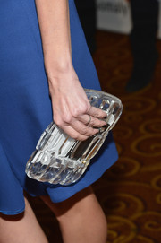 Cindi Leive topped off her ensemble in modern style with an acrylic clutch when she attended the Life is Love Gala.