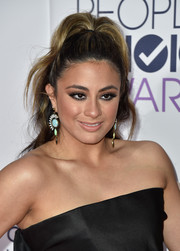 Ally Brooke Hernandez attended the People's Choice Awards wearing a funky high ponytail.