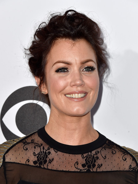 More Pics of Bellamy Young Messy Updo (9 of 25) - Updos Lookbook - StyleBistro [hair,face,hairstyle,eyebrow,chin,beauty,smile,black hair,brown hair,premiere,peoples choice awards,part,california,los angeles,nokia theatre la live,arrivals,bellamy young]