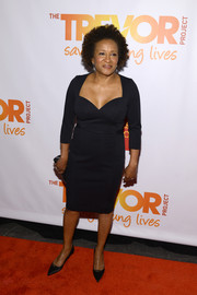 Wanda Sykes went for feminine appeal in a sweetheart-neckline LBD during the TrevorLive NY event.