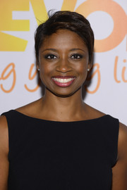 Montego Glover looked amazing in her signature pixie cut the TrevorLive event in New York City.