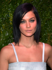 Leigh Lezark wore her hair in edgy-chic shoulder-length layers at the Tribeca Film Festival Artists Dinner.