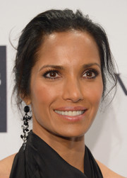 Padma Lakshmi took a risk with this messy updo at the amfAR New York Gala.