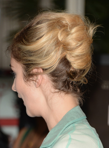 More Pics of Caitlin Fitzgerald French Twist (1 of 8) - Caitlin Fitzgerald Lookbook - StyleBistro [hair,hairstyle,chin,blond,ear,brown hair,neck,long hair,chignon,bun,arrivals,caitlin fitzgerald,hair detail,four seasons hotel beverly hills,california,afi awards,afi awards luncheon]