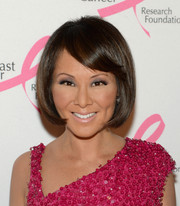 Alina Cho topped off her look with a youthful bob with side-swept bangs when she attended the Hot Pink Party.