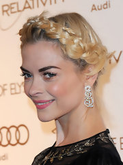 Jaime King wore her golden tresses in a braided halo at the Art of Elysium's 5th Annual Heaven Gala.