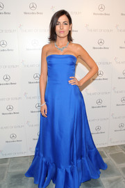 Camilla Belle's strapless Ralph Lauren gown at the Art of Elysium's Heaven Gala was simple yet striking, thanks to its bold electric blue color.