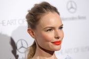 Kate Bosworth opted for a messy-chic ponytail when she attended the Art of Elysium's Heaven Gala.