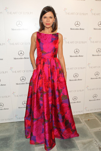 Finola Hughes looked oh-so-sweet in her floral fit-and-flare gown at the Art of Elysium's Heaven Gala.