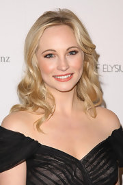 Candice Accola opted for a loose wavy 'do when she attended the 2011 Art of Elysium Heaven Gala.