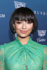 Kat Graham looked downright darling with her short bob and eye-grazing bangs at the Art of Elysium Heaven celebration.