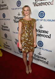 Amy Smart was all aglow in a gold and silver sequin dress at the Heaven Gala.