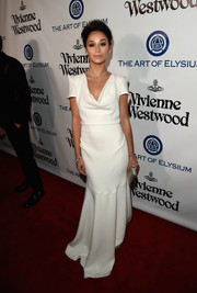 Cara Santana was an elegant standout in her white cowl-neck gown at the Heaven Gala.
