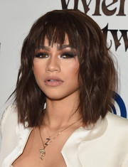 Zendaya Coleman balanced out her heavy eye makeup with a subtle lip.