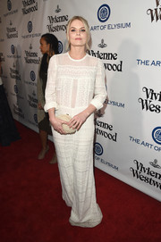 Jennifer Morrison looked appropriately angelic at the Heaven Gala in an embroidered white maxi dress by Isabel Marant.