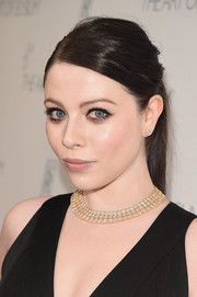 Michelle Trachtenberg wore an edgy-chic ponytail to the Art of Elysium Heaven Gala.