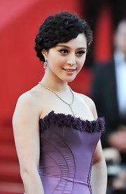 Fan Bingbing is all about standing out and that's just what she did with a woven updo full of multiple braids.