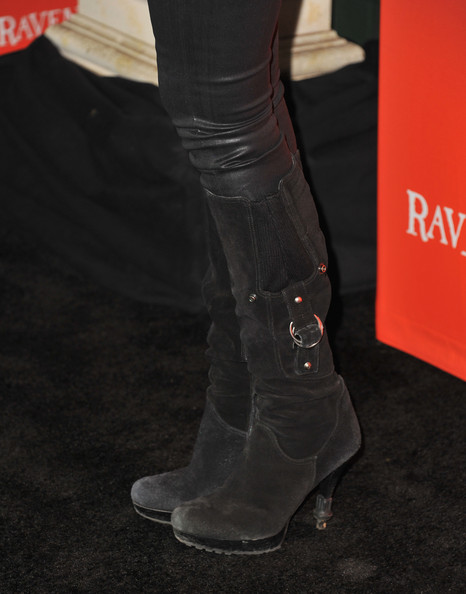 Ashley Benson Knee High Boots