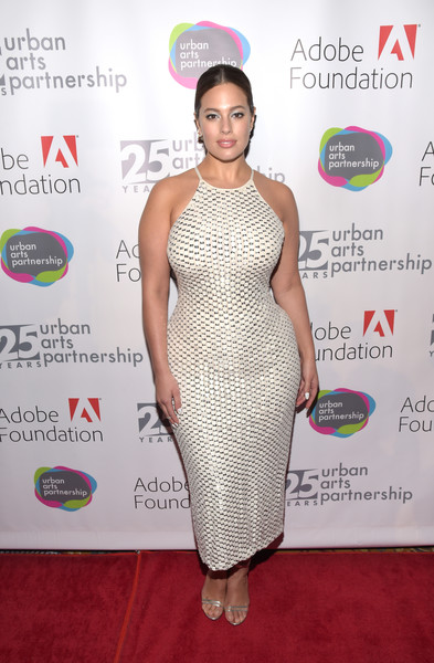 Ashley Graham Form-Fitting Dress