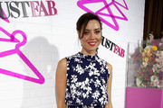 Aubrey Plaza Print Dress