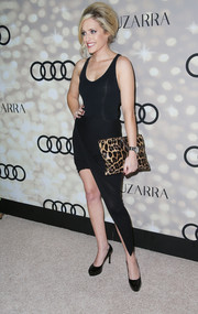 Carly Chaikin vamped it up in a sleeveless, body-con LBD with an asymmetrical hem during the Emmy kickoff party.
