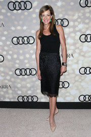 Allison Janney's black lace pencil skirt and tank top at the Emmy kick-off party were a very elegant pairing.