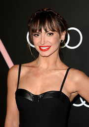 Karina Smirnoff topped off her look with a charming crown braid when she attended the Golden Globes Weekend celebration.