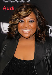 Sherri Shepherd swept on a bold violet shadow for the Audi 2012 Super Bowl Celebration.