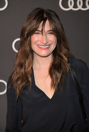 Kathryn Hahn was stylishly coiffed with tousled waves when she attended Audi's celebration of the Emmys.