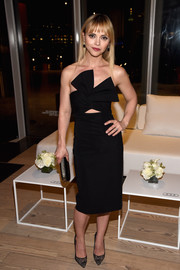 Christina Ricci looked equal parts sweet and sassy in a bow-bodice cutout dress by Cushnie Et Ochs at the Audi Sound Lab Experience.