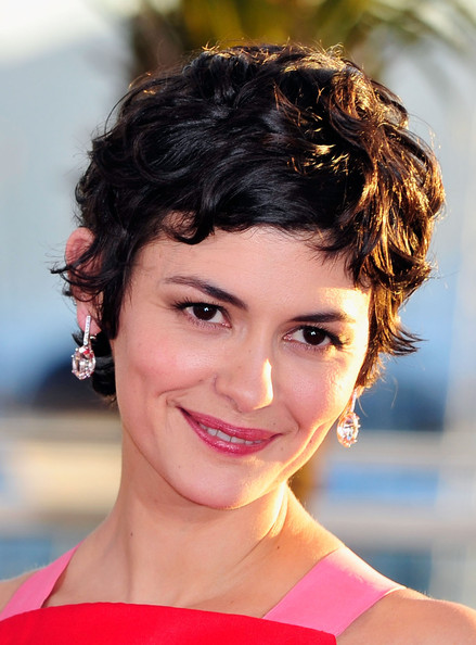 Audrey Tautou Pixie [winners photocall,hair,face,hairstyle,eyebrow,chin,beauty,lip,forehead,black hair,brown hair,winners,audrey tautou,palme dor,cannes,france,cannes film festival,palais des festivals]