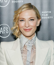 Cate Blanchett looked sweet with her short, side-swept waves at the 'Where'd You Go, Bernadette' private dinner.