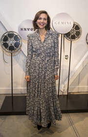 Maggie Gyllenhaal kept it modest in a printed maxi shirtdress at the Autograph Collection Hotels' exclusive screening of 'Gemini.'