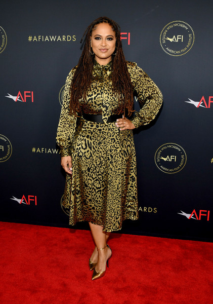 Ava DuVernay Knee Length Skirt [red carpet,carpet,clothing,flooring,premiere,fashion,dress,footwear,fashion model,event,arrivals,ava duvernay,los angeles,four seasons hotel,california,beverly hills,afi awards,ava duvernay,american film institute awards 2019,when they see us,film director,actor,primetime emmy award,celebrity,film producer,screenwriter,golden globe awards]