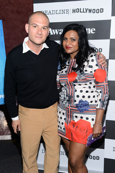 More Pics of Mindy Kaling Print Dress (5 of 43) - Mindy Kaling Lookbook - StyleBistro [the mindy project,fashion,event,outerwear,fashion design,premiere,performance,style,mindy kaling,dominic patten,awardsline,california,los angeles,landmark theatre,screening]